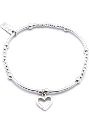 ChloBo Cute Mini Bracelet With Open Heart Charm