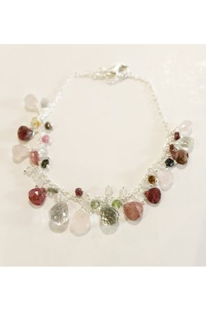 Pomegranate Iris Beaded Bracelet