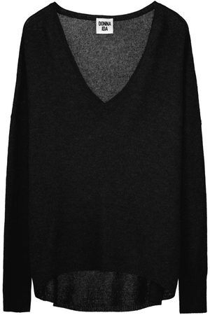 DONNA IDA Lauren V Neck Cashmere Knit - Noir