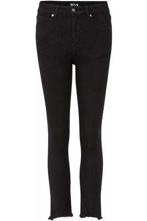 DONNA IDA Sidney Cropped Straight Jeans - Blackest
