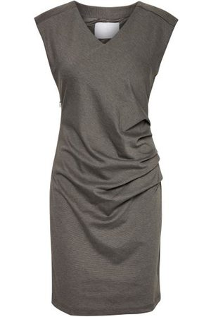 Kaffe India V Neck Sleeveless Dress - Dark Grey Melange