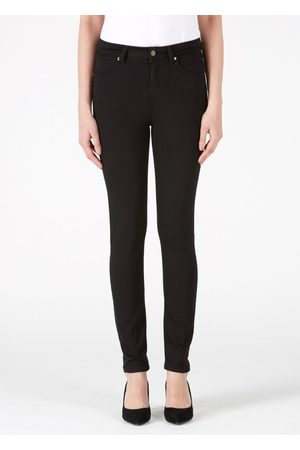 DONNA IDA Rizzo High Top Ankle Skinny Jeans - Blackest