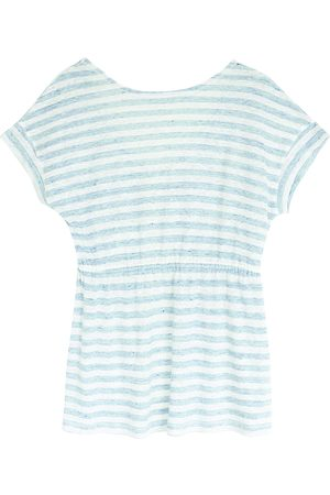 Intropia Striped Tie Detail Top