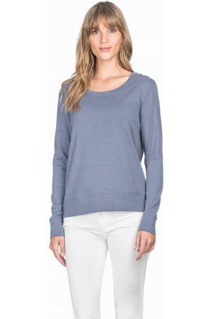 Lilla P Women Long sleeves - Long Sleeve Button Shoulder Top - Shale
