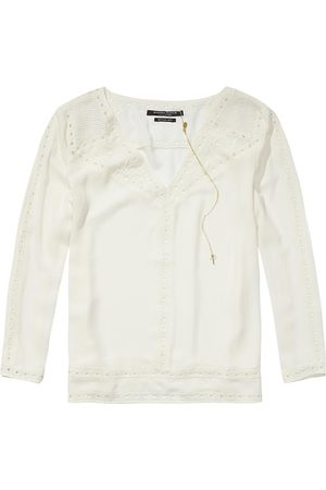 Scotch&Soda Cut Out Embroidery Blouse