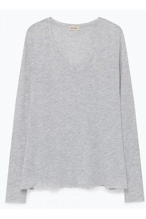 American Vintage Jacksonville Grey Long Sleeve T-Shirt