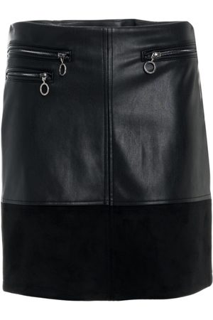 Salsa Faux Leather Mini Skirt With Zips
