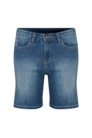 Kaffe Augustine Shorts - Medium Denim