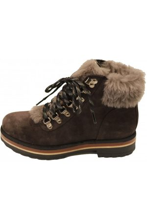 Kanna Womens K2009 Lace Up Boot in Grey