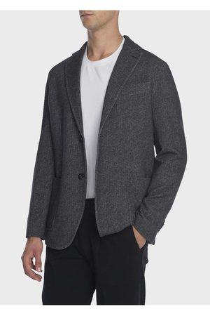 Circolo Mens CN2042 Fleece Cashmere Touch Grey Jacket
