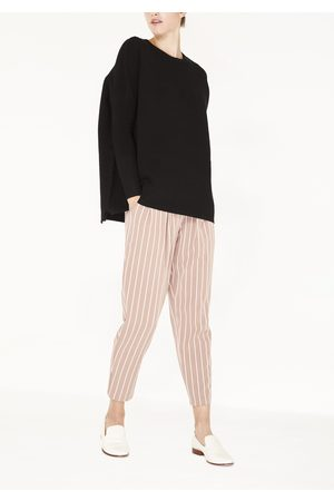 Paisie Ribbed Jumper with Side Splits in Black