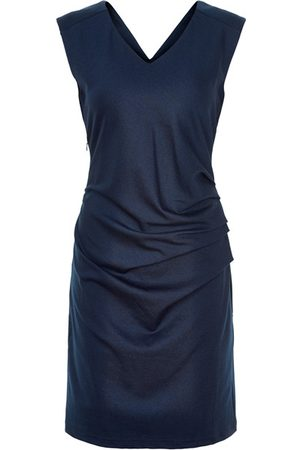 Kaffe India V Neck Sleeveless Dress - Midnight Marine