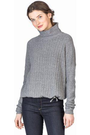 Lilla P Drawstring Hem Turtleneck Sweater - Charcoal Heather