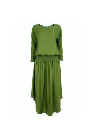 Jane Says Plain Jane Midi Dress - Olive