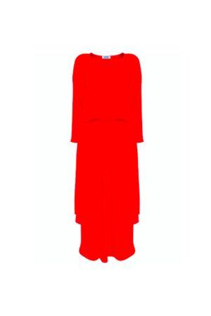 Jane Says Plain Jane Midi Dress - Scarlet