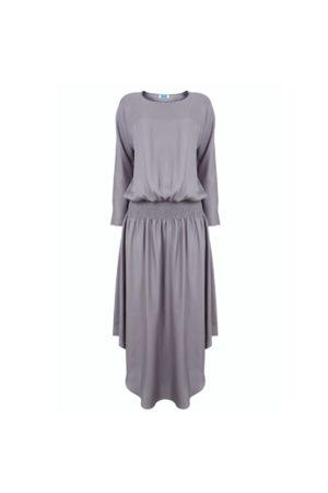 Jane Says Plain Jane Midi Dress - Silver
