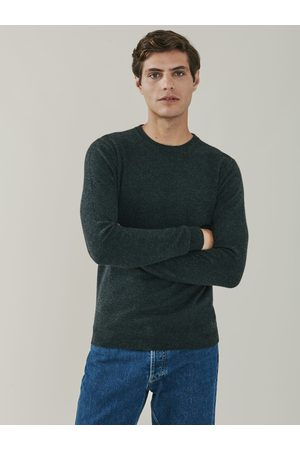 Mr Q Canyon Cashmere Crew Neck Sweater - Charcoal