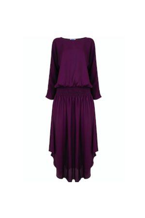 Jane Says Plain Jane Midi Dress - Aubergine