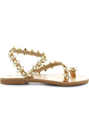 Dimitra's Workshop Women Sandals - DIMITRAS WORKSHOP SANTORINI WHITE SANDAL 36