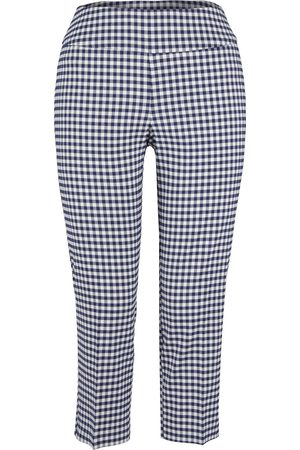 Up Pants Women Jeans - Up! Pants 66289 Cropped Trouser - Navy Gingham