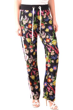Pinko Black Floral Print Sweatpants
