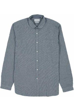 OLIVER SPENCER Eton Collar Shirt in Olson Indigo