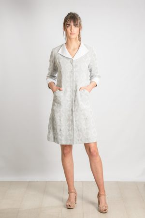 Nellie & Dove Women Dresses - Nels Posh Frock in Textured Duck Egg