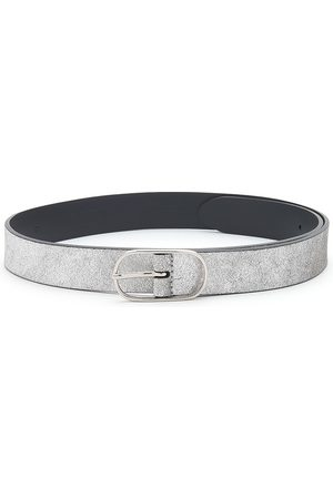 Anderson's ANDERSONS Metallic Leather Belt - Silver