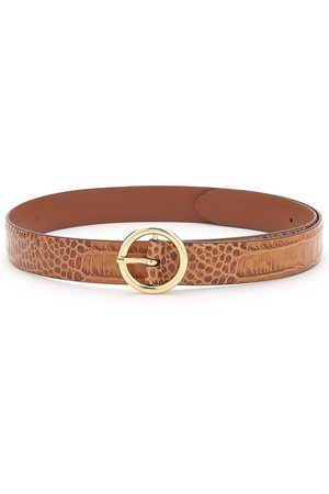 Anderson's ANDERSONS Crocodile Effect Leather Belt - Tan