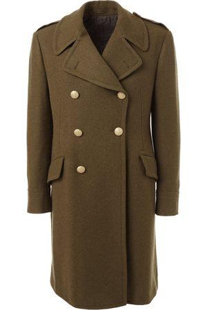 LARDINI Double Breasted Wool Coat - Khaki
