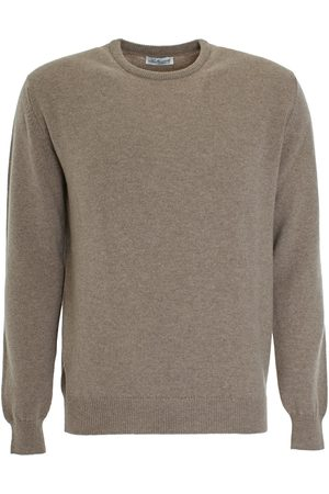 LEATHERSMITH OF LONDON Mushroom wool round neck sweater