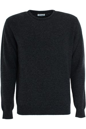 LEATHERSMITH OF LONDON Charcocal wool round neck sweater