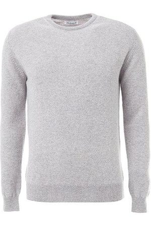 LEATHERSMITH OF LONDON Grey wool round neck sweater