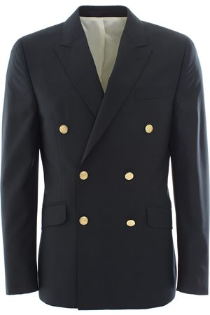 LEATHERSMITH OF LONDON Double Breasted Blazer - Navy