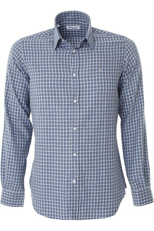 LEATHERSMITH OF LONDON Brushed Cotton Shirt - Grey/