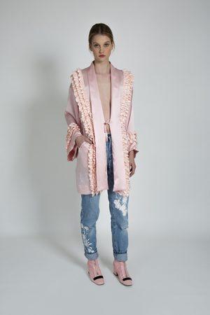 Alice Archer Women Kimonos - Eberta Silk Ruffle Trim Kimono