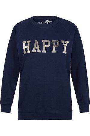 On the Rise Women Sweatshirts - Silver Happy Sweatshirt