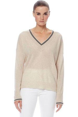 360CASHMERE Nessa Sweater - Oatmeal / Black