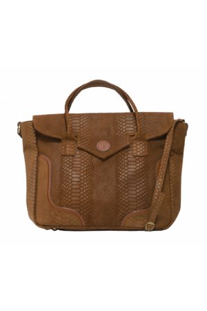 KGW Studio Tanned python-effect natural leather handbag