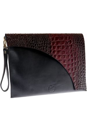 KGW Studio And red leather envelope clutch