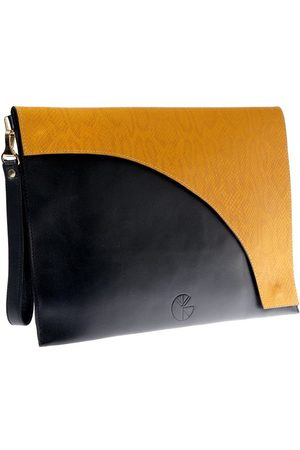KGW Studio And yellow leather envelope clutch