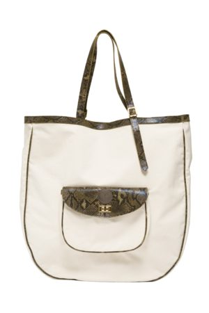 KGW Studio Large canvas and natural leather bag