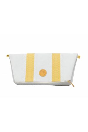 KGW Studio And yellow python effect natural leather clutch