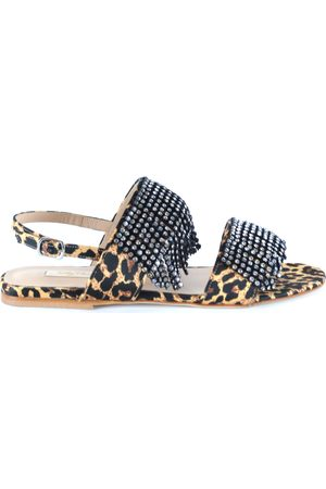 Polly Plume Sandals in Leopard Print