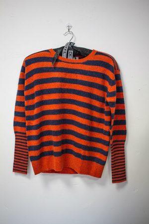 AJ117 Softlane Sweater - Brick Stripe