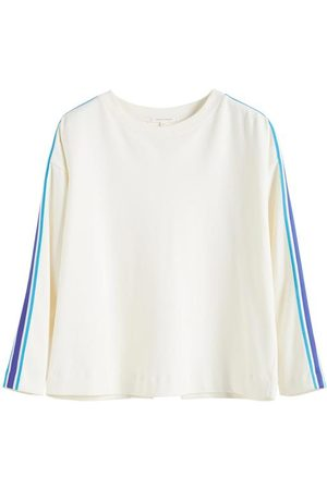 Chinti And Parker Chinti & Parker Open Back Brushed Cotton Sweatshirt - Off