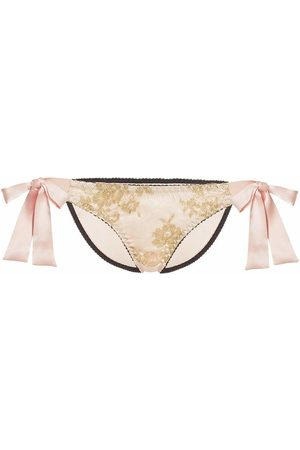 Gilda & Pearl Harlow Tie-Side Knicker Blush/Gold