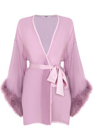 Gilda & Pearl Diana Marabou Kimono