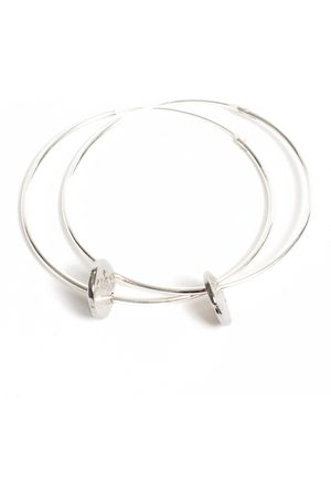 Lily King Cubic Zirconia Disc Hoop Earrings - Large