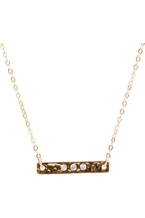 Lily King Cubic Zirconia Bar Necklace
